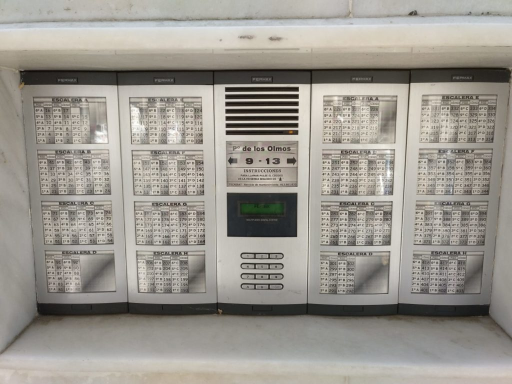 Consola Fermax VDS codigo campana