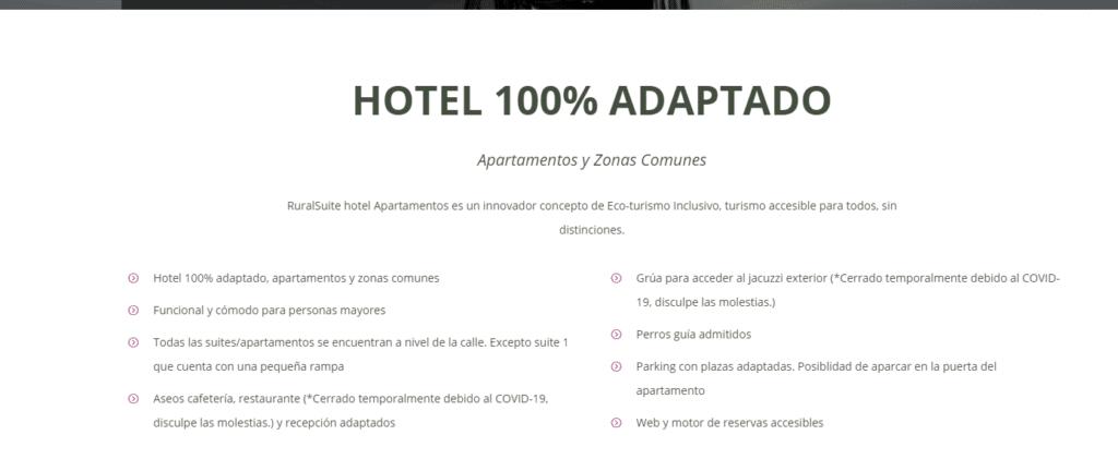 Hotel 100% adaptado