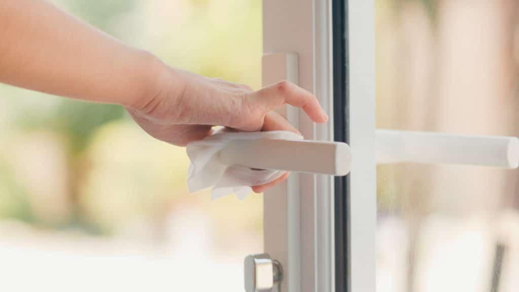 portero automatico wifi no tocar puerta con la mano