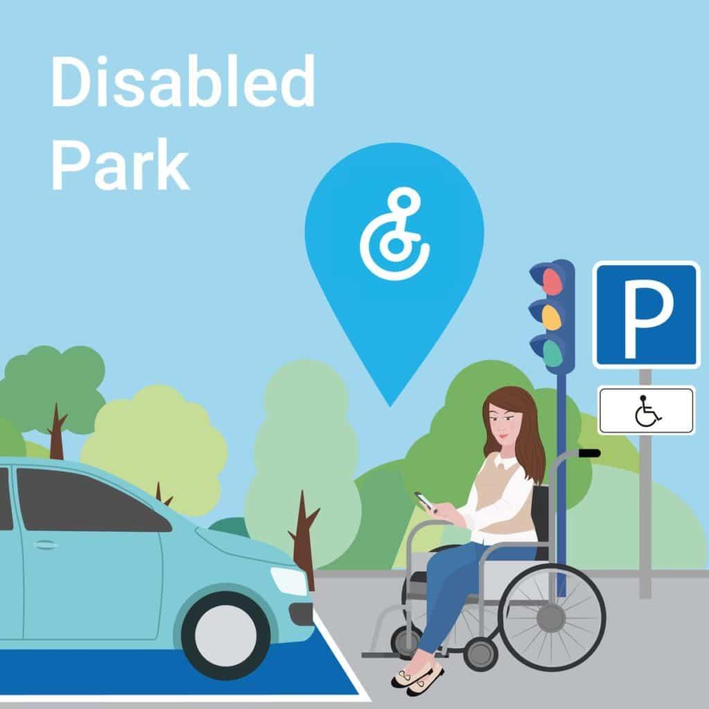 productos de apoyo para personas con movilidad reducida-disabled park app
